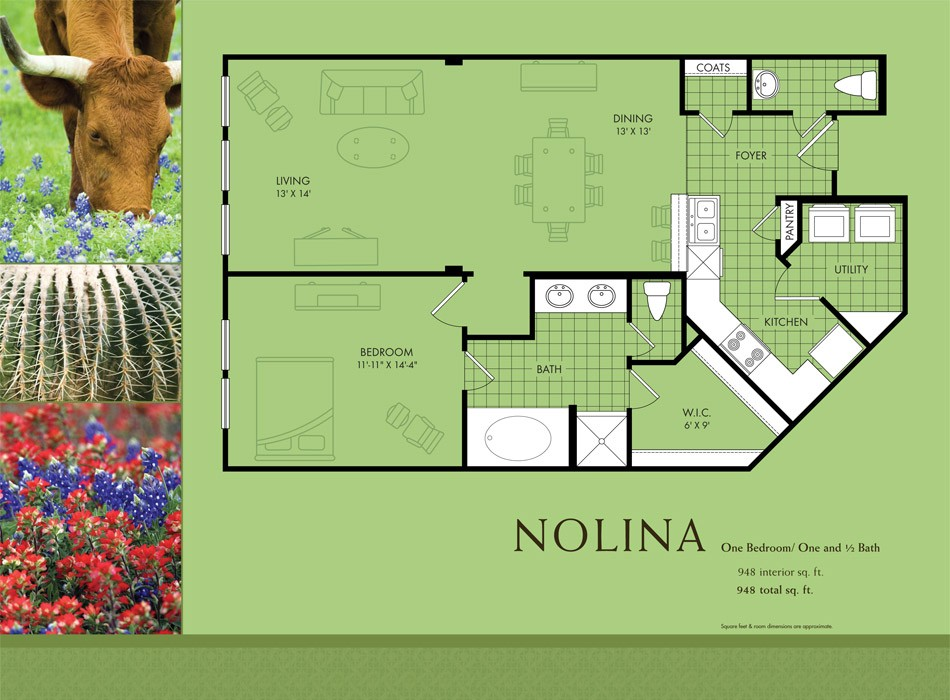 948 sq. ft. Europa floor plan