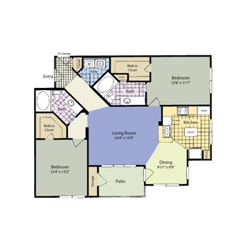 1,161 sq. ft. Gordonville (Traditional) floor plan