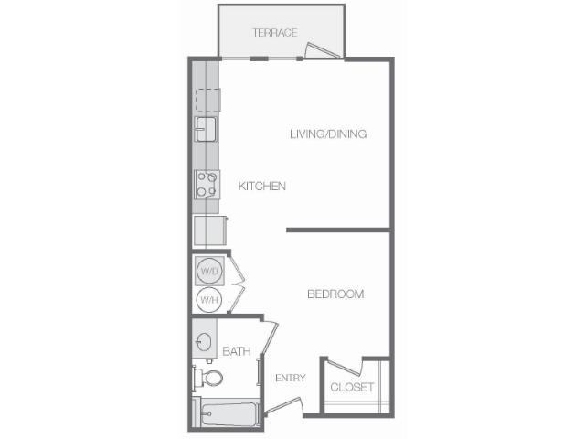 574 sq. ft. floor plan