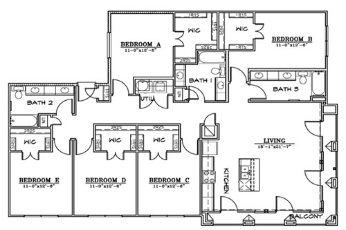 2,006 sq. ft. F3A/B floor plan