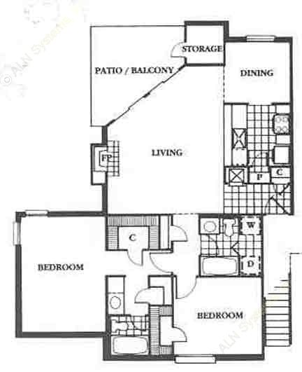 1,079 sq. ft. Grand floor plan