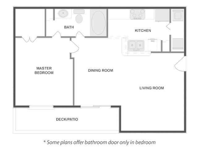 711 sq. ft. HEAVENLY floor plan