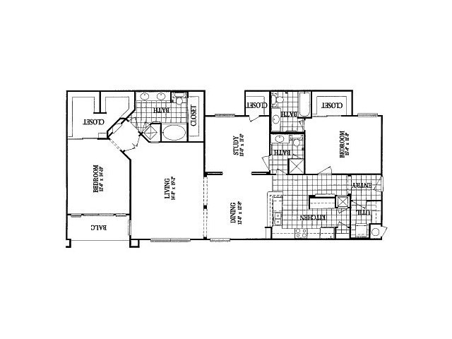 1,787 sq. ft. B5 Study floor plan