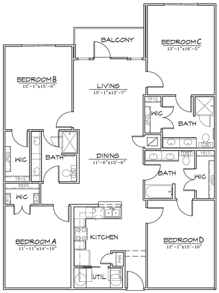 1,760 sq. ft. floor plan