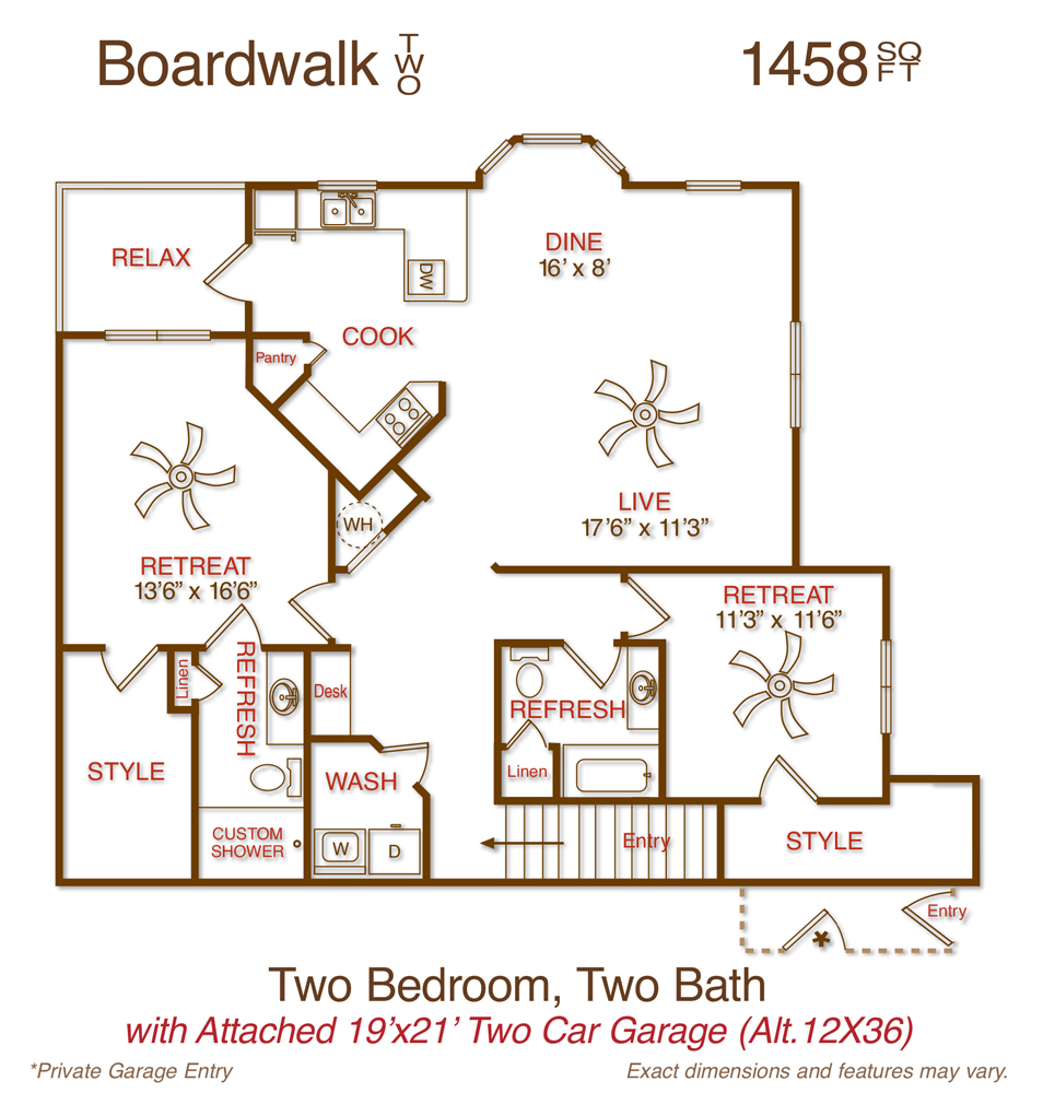 1,458 sq. ft. B4 floor plan