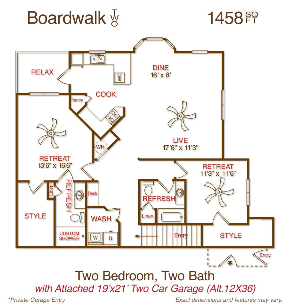 1,458 sq. ft. B4 floor plan