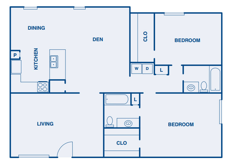 1,461 sq. ft. B3 floor plan