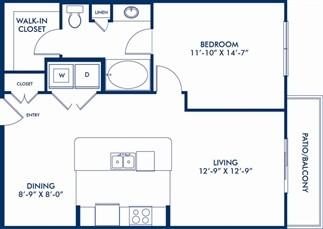 816 sq. ft. Kreiss floor plan