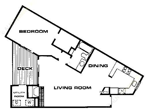 832 sq. ft. A4 floor plan