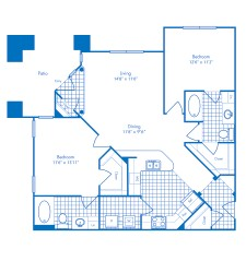 1,169 sq. ft. Galapagos floor plan