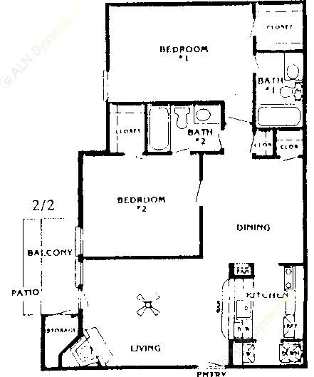 1,055 sq. ft. Elm floor plan