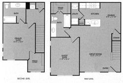 1,144 sq. ft. 60% floor plan