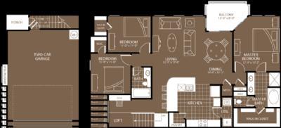 1,578 sq. ft. Sydney floor plan