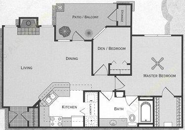 861 sq. ft. Pedernales/A3 floor plan