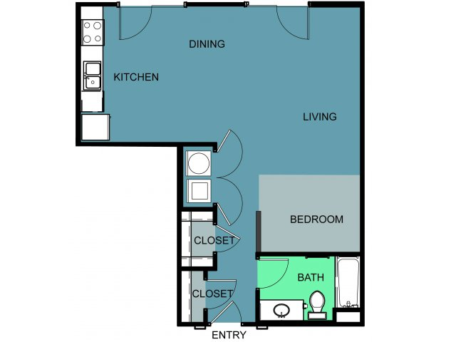693 sq. ft. Morris floor plan