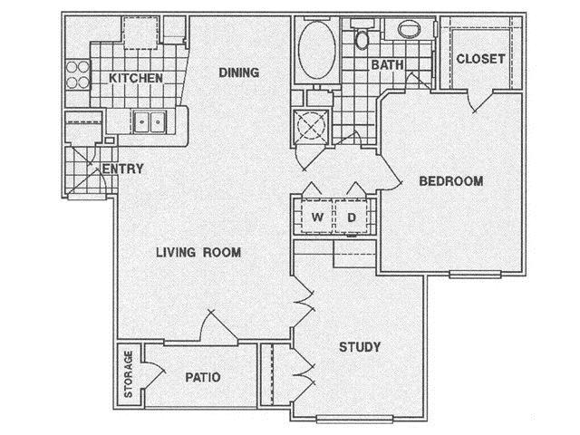 903 sq. ft. C floor plan