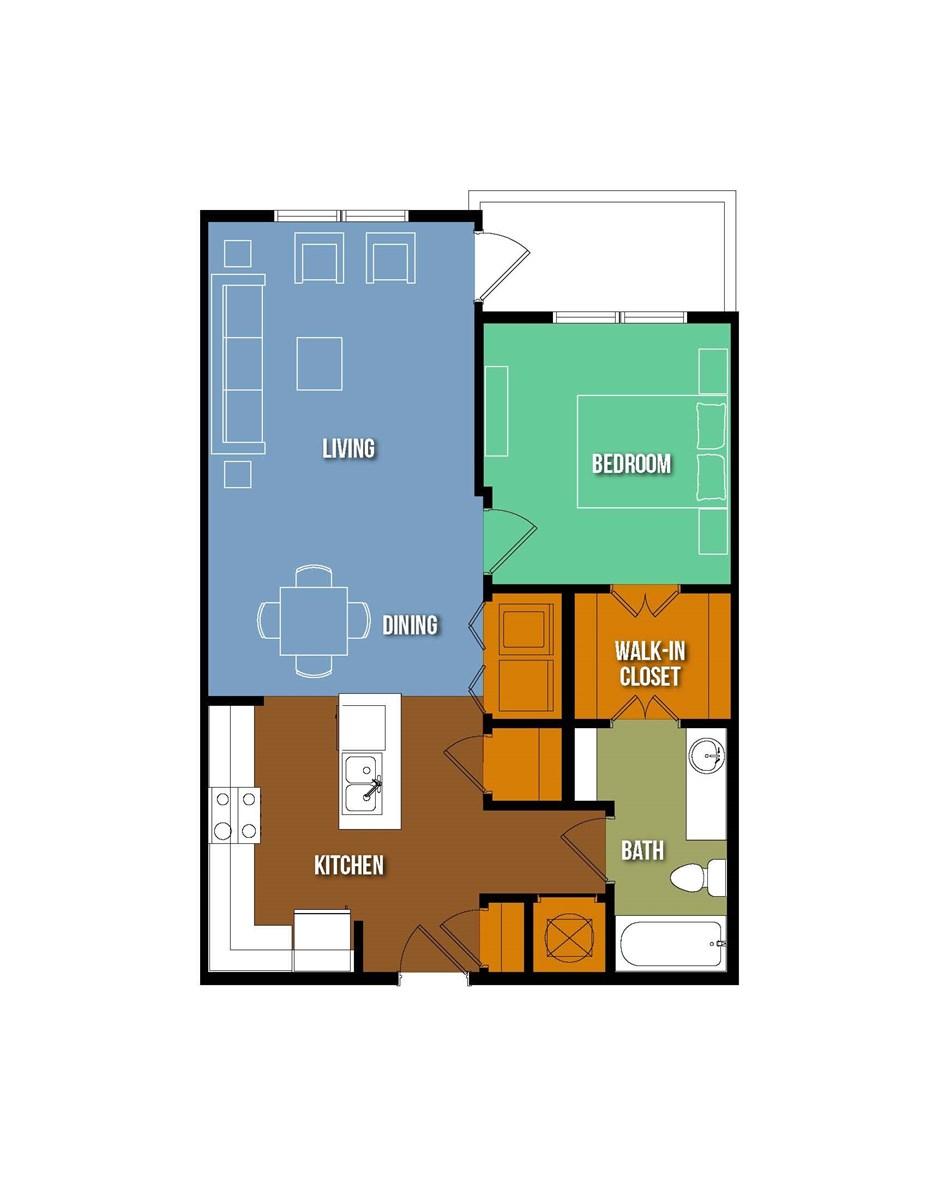777 sq. ft. Julian Onderdonk floor plan