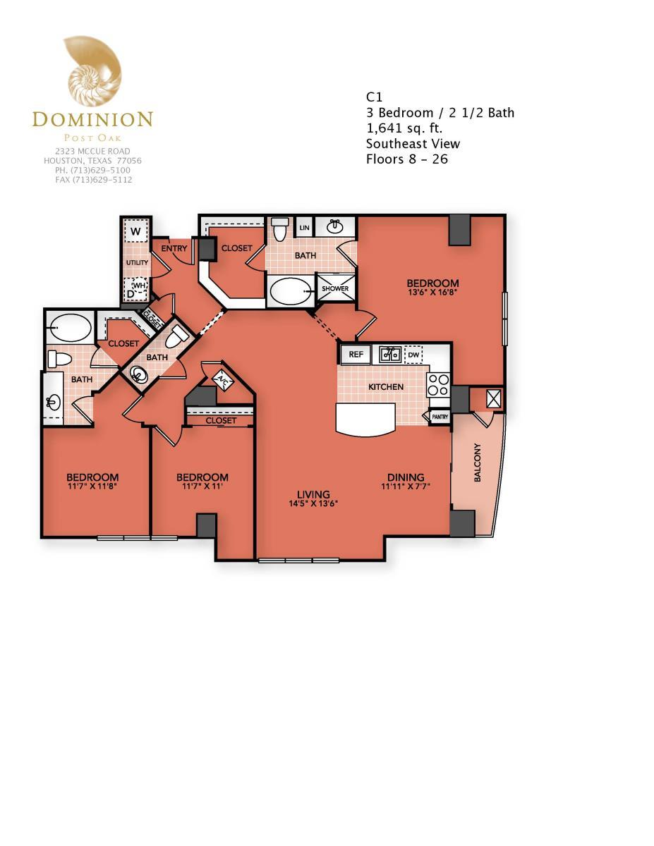 1,641 sq. ft. C1 floor plan