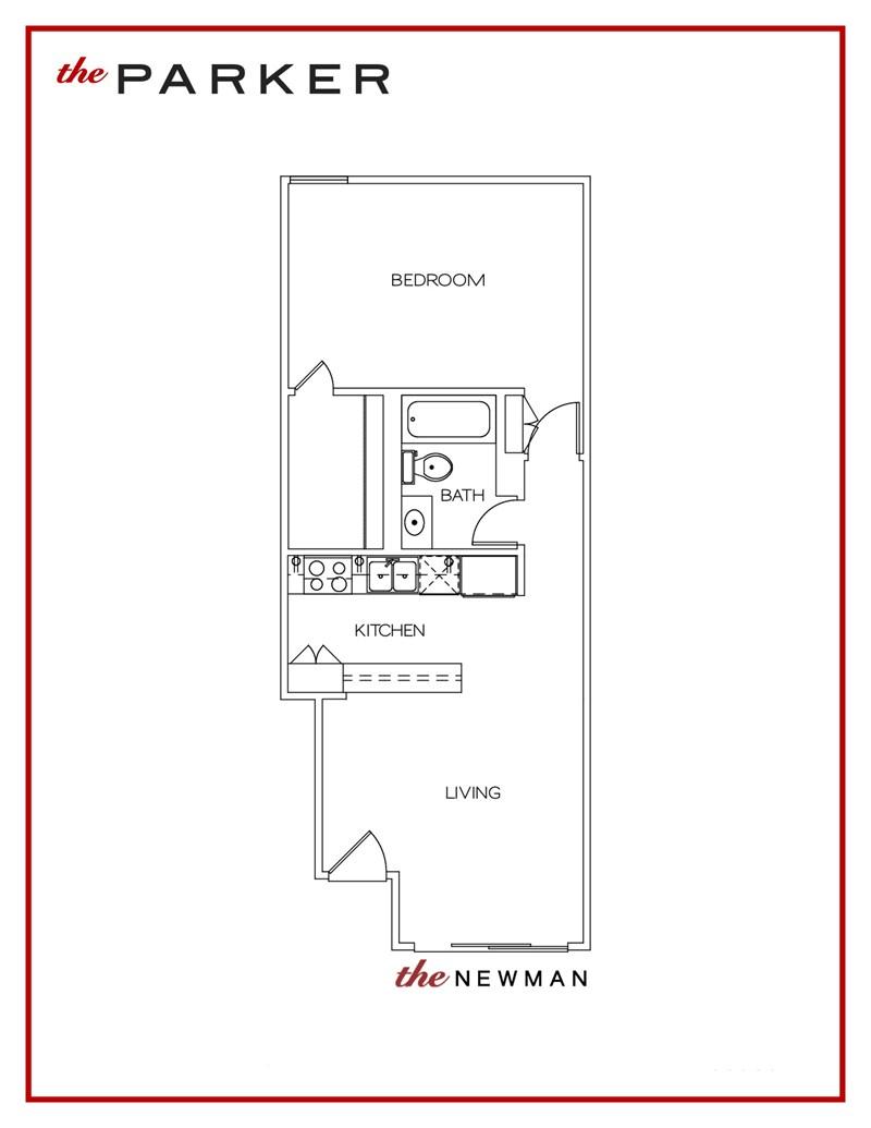 595 sq. ft. Newman floor plan