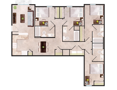 1,281 sq. ft. to 1,328 sq. ft. Breckenridge floor plan