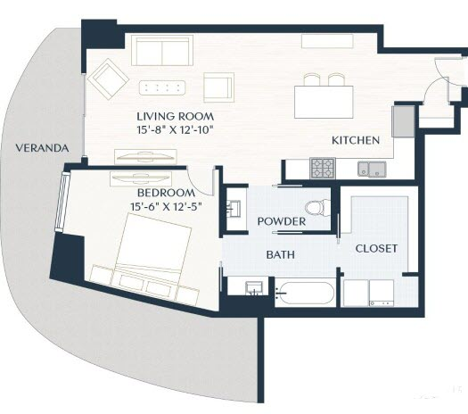 994 sq. ft. A4 floor plan
