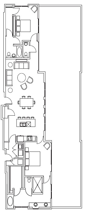 1,586 sq. ft. Trinity-Penthouse floor plan