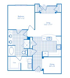 935 sq. ft. Cozumel floor plan