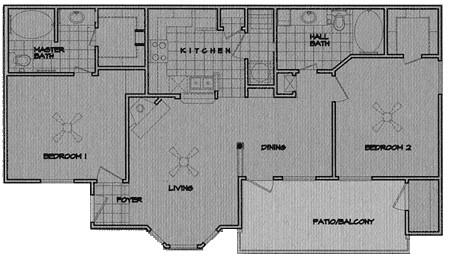 1,016 sq. ft. Yosemite floor plan