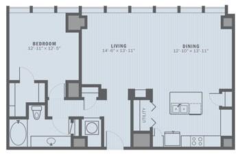 1,074 sq. ft. A8-35 floor plan
