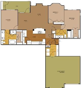 1,424 sq. ft. DESIRE floor plan
