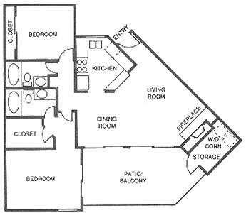 1,042 sq. ft. I floor plan