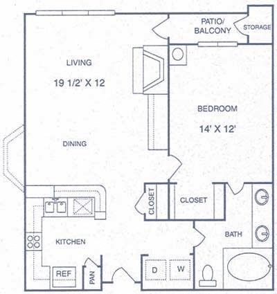 750 sq. ft. BP floor plan