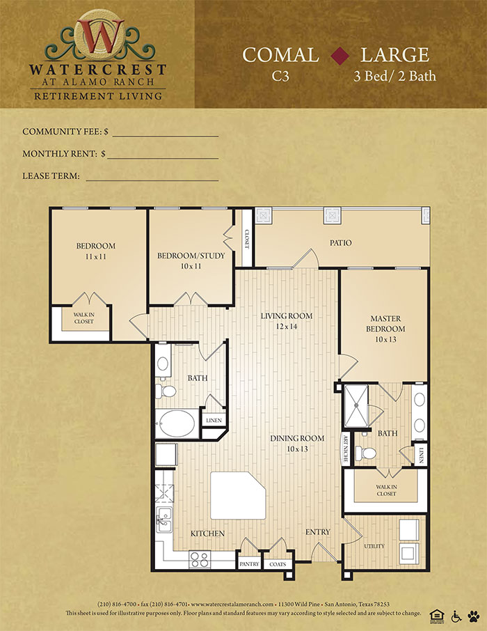 1,400 sq. ft. Comal floor plan