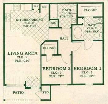 935 sq. ft. 60 floor plan