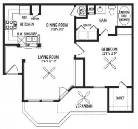 727 sq. ft. A floor plan