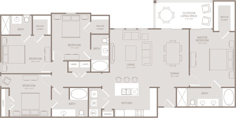 1,850 sq. ft. Twill floor plan