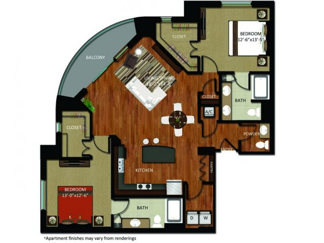 1,477 sq. ft. B10 floor plan