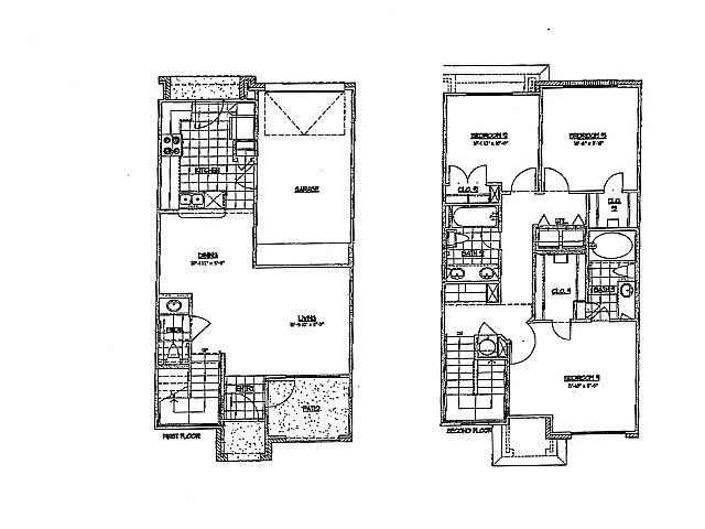 1,325 sq. ft. H 60 floor plan