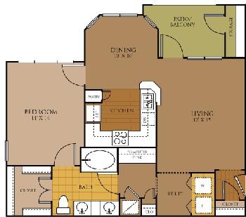 806 sq. ft. REVERIE floor plan