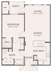 789 sq. ft. Cumberland floor plan