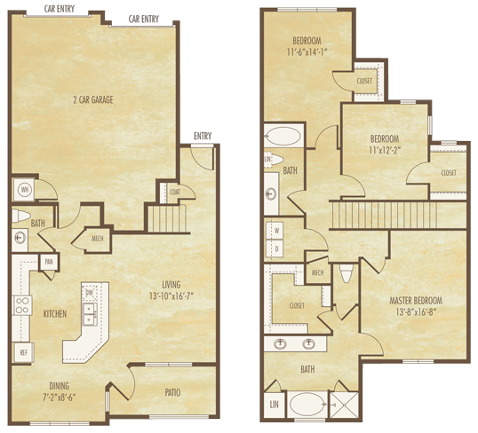 1,786 sq. ft. C1A floor plan
