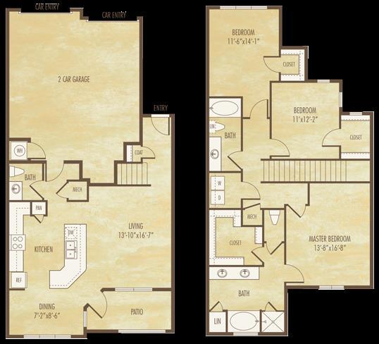 1,786 sq. ft. C1 floor plan