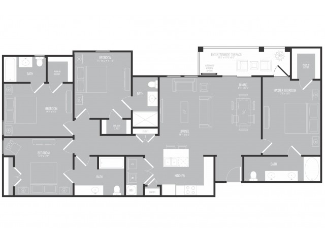 1,743 sq. ft. Boulevard floor plan