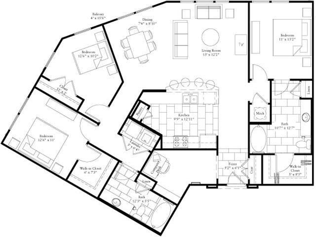 1,537 sq. ft. floor plan