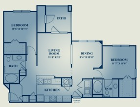 1,170 sq. ft. Chianti floor plan