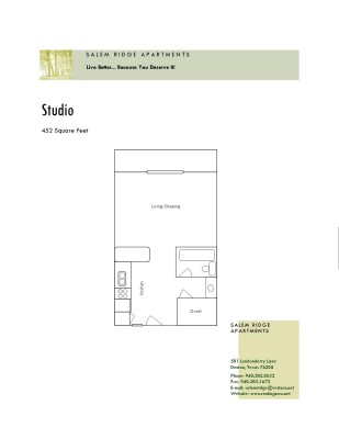 452 sq. ft. floor plan