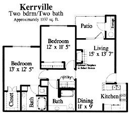 1,037 sq. ft. Kerrville floor plan