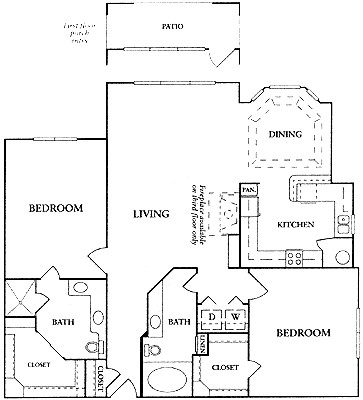 1,331 sq. ft. C2a floor plan