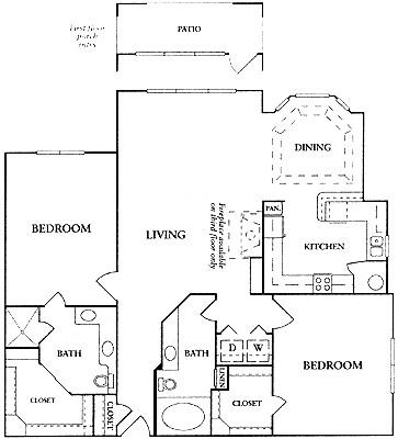 1,331 sq. ft. C2a floor plan