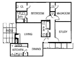 1,257 sq. ft. B5 floor plan
